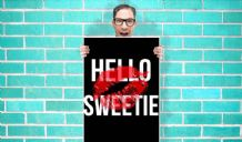 Doctor Who River Song Hello Sweetie Art - Wall Art Print Poster   - Kids Children Bedroom Geekery